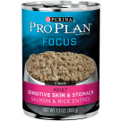 Purina Pro Plan Focus Adult Sensitive Skin & Stomach Salmon & Rice Entrée Dog Food