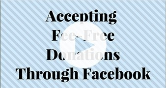 Facebook waives all fees on Non-Profit Donations