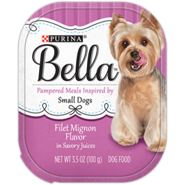 Bella Filet Mignon Flavor in Savory Juices Wet Dog Food