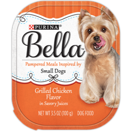 Bella Grilled Chicken Flavor in Savory Juices Wet Dog Food
